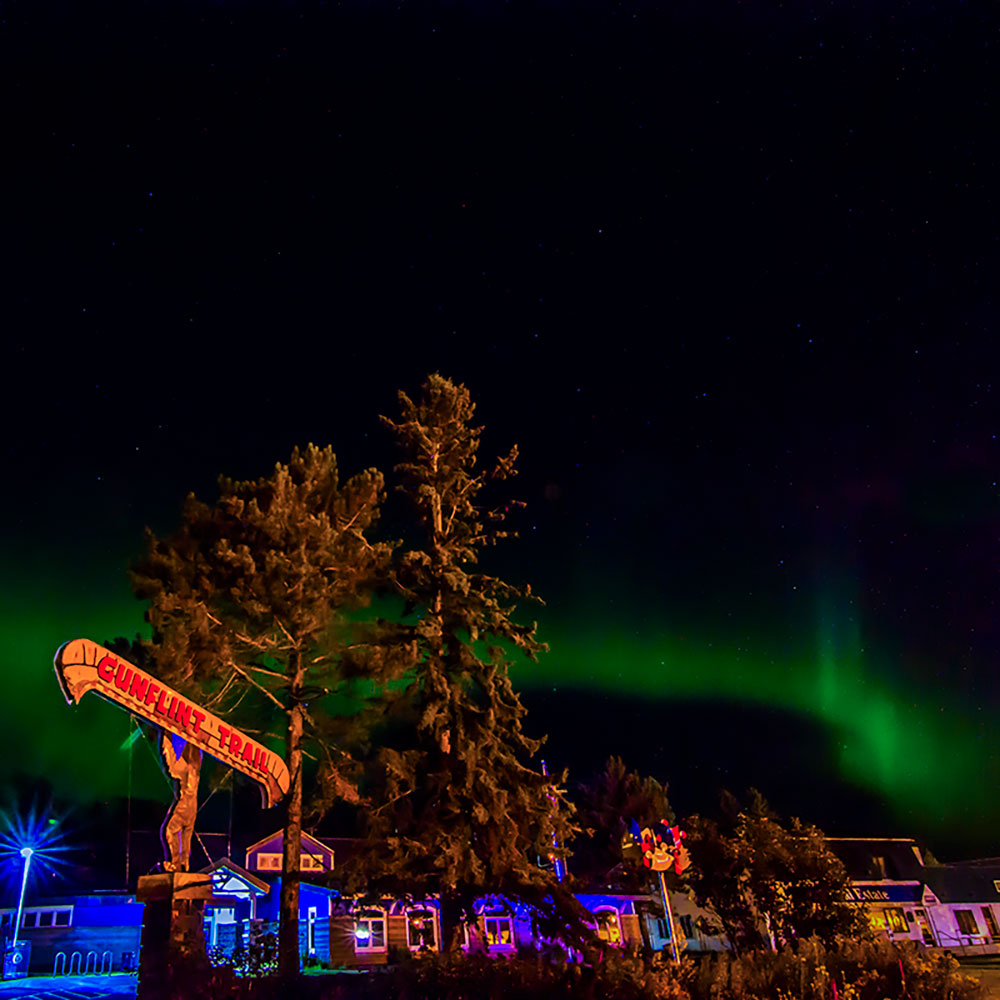 Northern lights light up the sky in Grand Marais